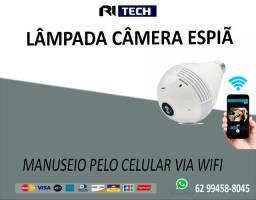 Camera Lampada Led Wifi IP Panoramica 360 Espiã