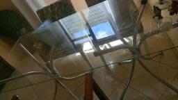 base cromoda para tampo de mesa