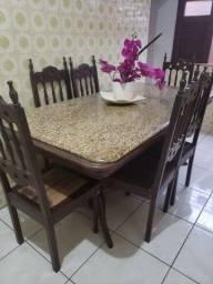 Mesa, Cadeiras e <br>Estante (Macanaíba)
