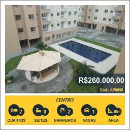 Título do anúncio: Apartamento com 2 quartos, 56 m², à venda por R$ 260.000