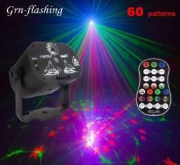 Laser DJ Festas Função Strobo Mini Projetor Holográfico 60 padrões