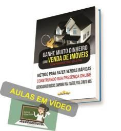 Ganhar dinheiro vendendo imoveis pela Internet.  Livro online  e vídeo aulas.