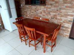 Mesa madeira torneada