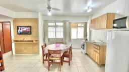 Aluguel mensal - 1 dormitório na quadra do mar - c/ despesas incluídas