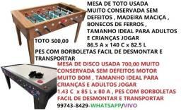 toto 500,00 / mesa de disco /air game 700,00