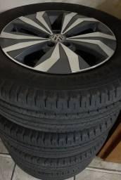 Roda-16-o jogo-e 4 pneus zerado 205/65/16-sem detalhe-novos