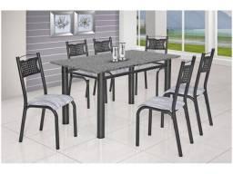 Mesa de Cozinha 6 Cadeiras Retangular Poeme - Ciplafe<br><br>