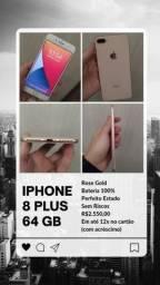 iPhone 8 Plus - 64GB (12x no cartão) - 3 meses de garantia