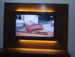 Painel de TV 100% MDF<br>com iluminação