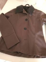 Jaqueta com couro