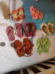Lote chinelinho sandália sapatinhos