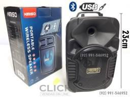 Mini Caixa De Som Bluetooth 5.0 Potente Longa D. Bateria 23cm