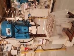 Furadeira de coluna usada, industrial, engrenada