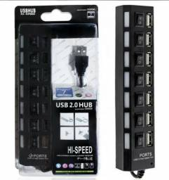 Regua Usb 2.0 Hub 7 Portas Hi-speed 500gb