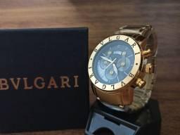 Relógio masculino bvlgari dourado