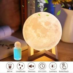Luminária, umidificador e aromatizador Lua 880ml