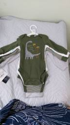 Body manga longa Carter's - roupa masculina recém nascido