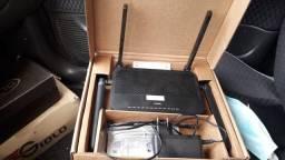 Roteador 4 antenas e telefone novo!!