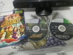 Kinect xbox 360 semi novo + 2 jogos