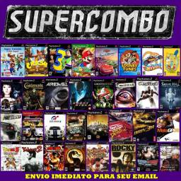 Jogos Para Ps2- Super Combo 400 jogos- Midia digital