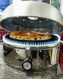 Forno Pizza Turbo A Gás Industrial De Lastro Portatil Assar