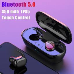 Fone Bluetooth Y30 com Case - Aceitamos cartoes!
