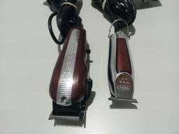 Máquinas de corte e acabamento Wahl para cabelo.