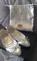 Sapatilha prata Santa Lola original número 37...acompanha bolsa