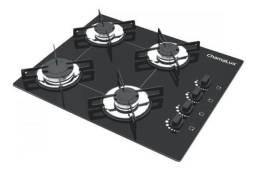 Fogão cooktop a gás Chamalux Luana 4 Bocas preto Novo Loja Nota fiscal