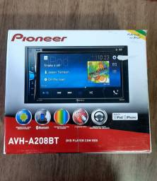 Multimídia pionner dvd Bluetooth novo 1 ano de garantia avh-a208bt