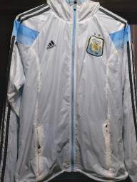 Jaqueta Adidas Argentina Hino Copa 2014