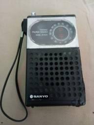 Radio Sanyo Am/Fm raridade funcionando