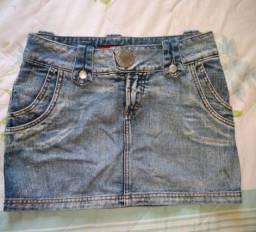 ( Tam. 38 ) saia jeans novíssima
