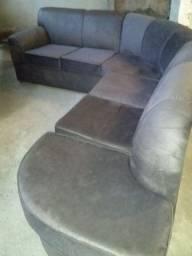 Sofa novo de canto em veludo