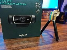 Vendo webcam Logitech c922 a câmera dos youtubers