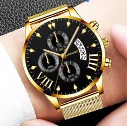 Relógio Masculino Ultrafino De Pulso Malha De Aço