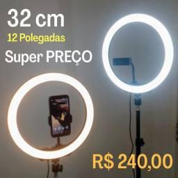 Ring Light 32 cm + Tripé 1,80m + Entrega Grátis