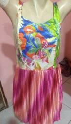 Vestido colorido TM médio