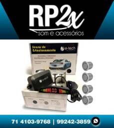 Sensor de estacionamento de ré digital 4 sensores universal Rs104br