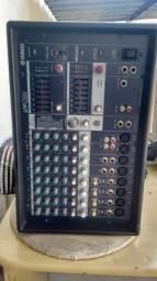 Cabeçote Yamaha 512 mesa de som e potência