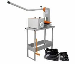 Vendo Máquina de fazer Chinelos Completa + Fresadora e Rebaixadora de furos + Kit de Facas