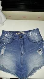 Shorts jeans hering cintura alta