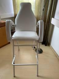 Cadeira para procedimento estético e maquiagem