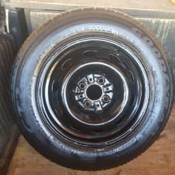Aro e pneu 14 Fiat Strada