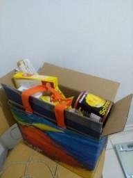 Cesta natalina completa na caixa e sacola