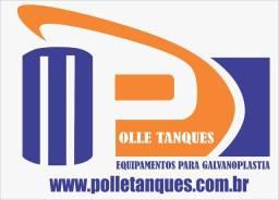 Fabricação de tanques e revestimento em lençol de PVC pra cromo