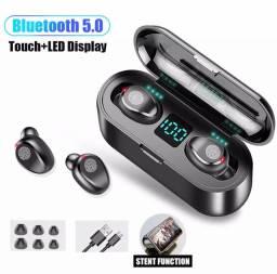 Fone de ouvido Bluetooth 5.0 de 2.000 mHa de armazenamento com marcador de