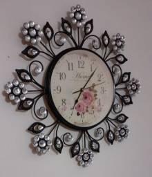 Relógio provençal soffisticatto coleção decorativo a pilha
