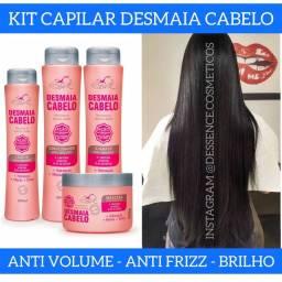 Reduz volume - Desmaia Cabelo | 4 itens