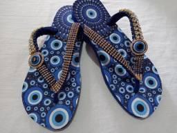 Sandálias Costumizadas Olho Grego Cod. 001